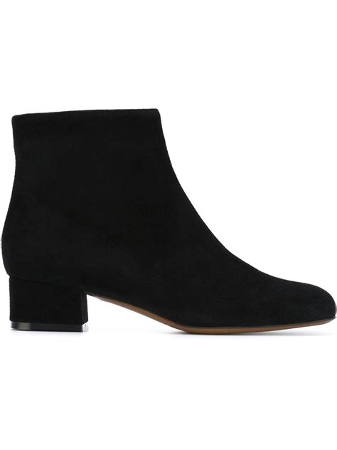 l autre chose low heel ankle boots in black lyst