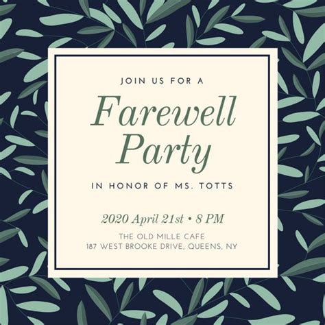 farewell party invitation gangcraft net