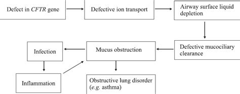 cystic fibrosis pathophysiology diagram view image