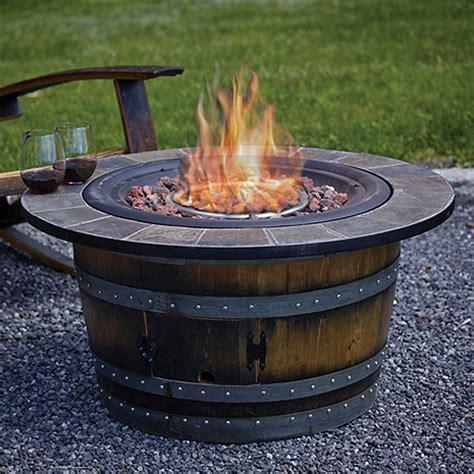 barrel pit reclaimed wine barrel pit with slate top wine