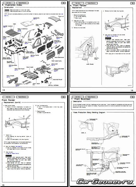 service and repair manuals 1992 acura vigor instrument cluster контрольные размеры кузова acura vigor cb5 1992 1994 body repair manual
