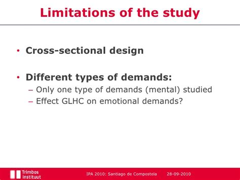 limitations of cross sectional study design the relation between group living home care and demands