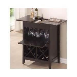 Portable Liquor Cabinet Bar Wine Liquor Cabinet Storage Brown Rack Glasses
