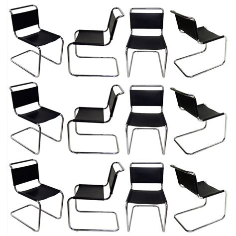 10 chairs by marcel breuer for thonet no b33 designed 1927