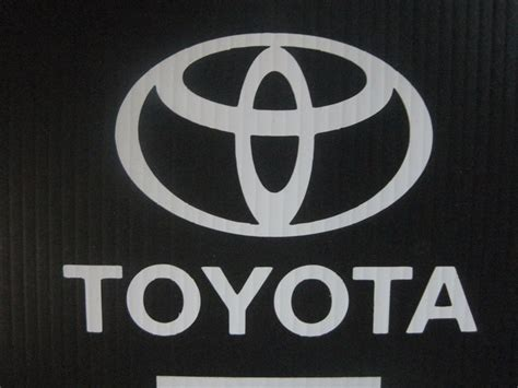 toyota car logo window sticker for toyota autos post