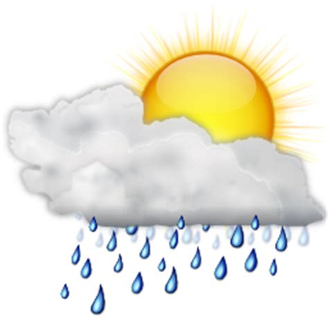 Showers Weather status weather showers day icon oxygen iconset oxygen team