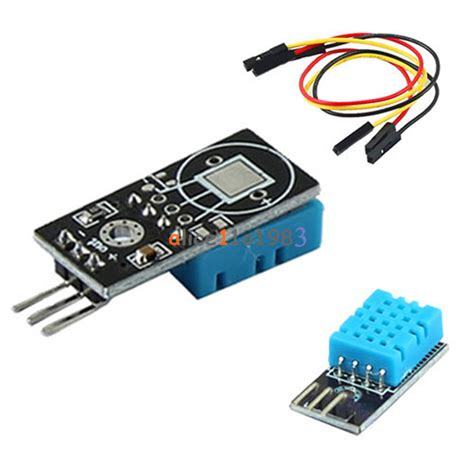 Dht11 Sensor Temperature And Humidity With Breadboard new dht11 temperature and relative humidity sensor module for arduino ebay