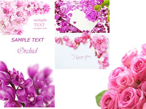 Card Flower Template by 4 Designer Flowers Card Template Hd Picture