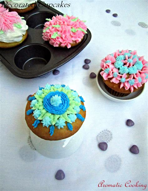 Decorated Cupcakes by Aromatic Cooking Decorated Cupcakes