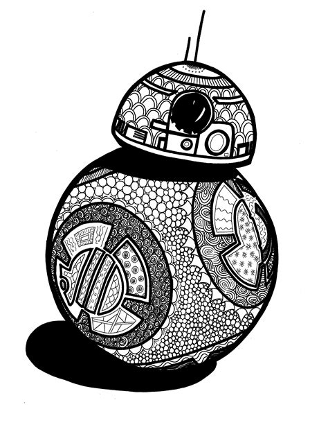lego bb 8 coloring page pin by sabrina doner on coloring pages pinterest adult