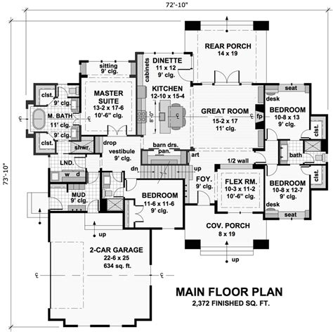 4 bedroom craftsman house plans craftsman house plan with 4 bedrooms and 3 5 baths plan 9719