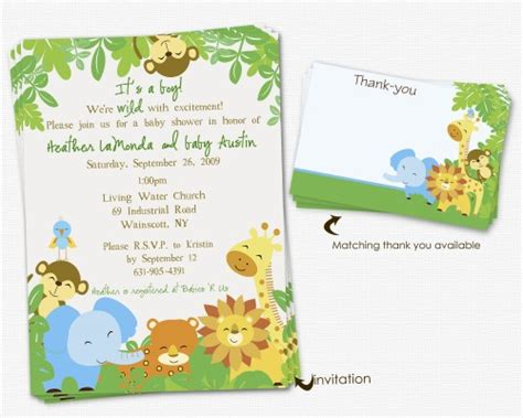 Safari Baby Shower Invitations Template Cimvitation Jungle Baby Shower Invitations Free Template