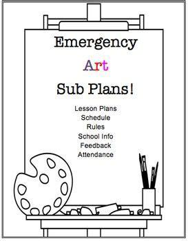 printable art sub plans visual arts emergency substitute lesson plans resources