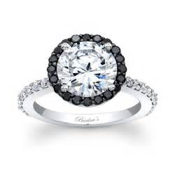 white and black engagement rings barkev s designer engagement ring in 14kt white gold with 0 63 ct in cut black