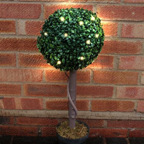 topiary lights 70cm solar topiary in pot with 20 warm led lights buy