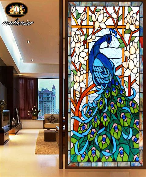 Custom Entrance Doors Sliding Doors Sliding Partition Wall Stained Glass Sliding Doors
