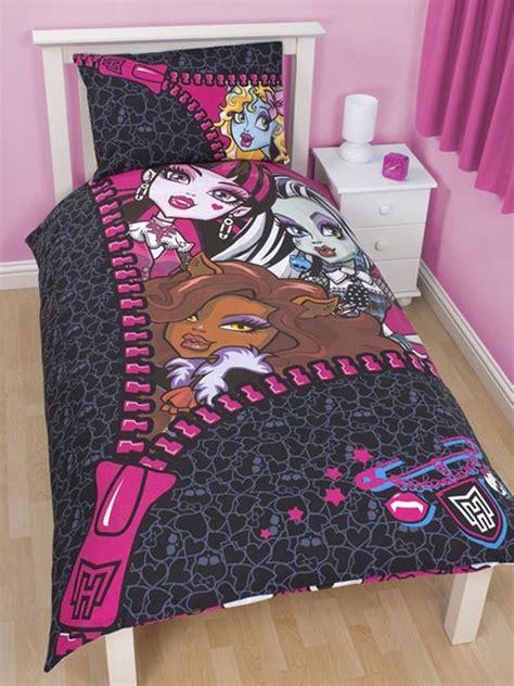 monster high comforters monster high bedding skullette duvet cover set