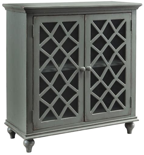 accent cabinet with glass doors mirimyn gray door accent cabinet from ashley coleman