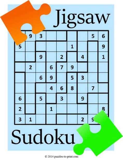 printable jigsaw sudoku puzzles free printable jigsaw sudoku