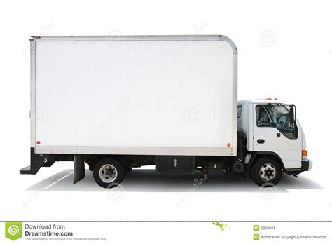 10 Wheeler Open Truck For Rent by Delivery Truck Isolated White Stock Image Image Of
