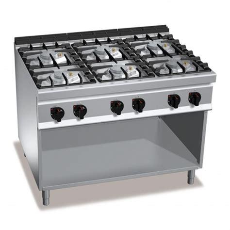 cucine gas professionali cucina professionale 6 fuochi gas 48kw