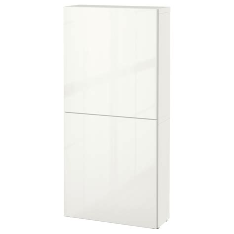 Besta Kommode Ikea by Best 197 Wall Cabinet With 2 Doors White Selsviken High Gloss
