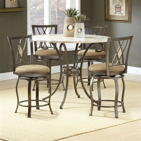 hillsdale brookside 5 counter height dining table