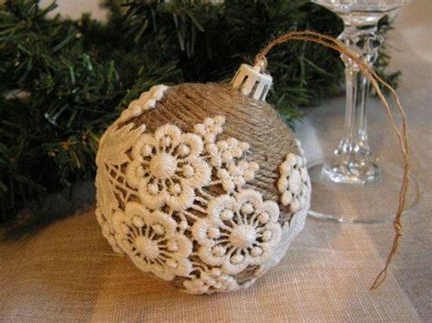Handmade Balls - burlap upcycling ideas for ornaments upcycle