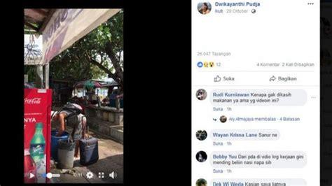 viral video turis asing  bali mengais makanan  tong