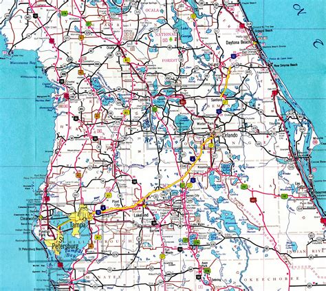 florida county map with highways interstate guide interstate 4