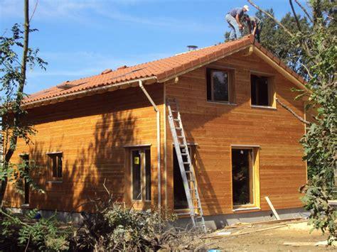maison de en bois photo maison ossature bois r 233 gion rhones alpes dans le