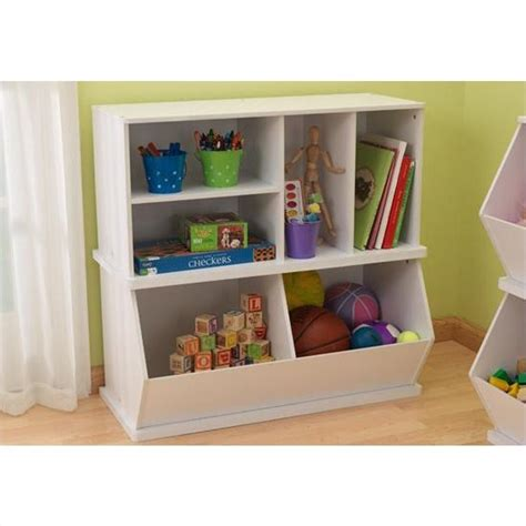 kid craft storage kidkraft storage unit with shelves in white 14179