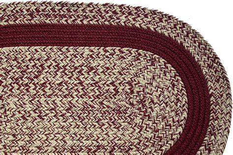 burgundy braided rug oatmeal burgundy burgundy band braided rug