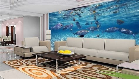 3d Wallpaper For Home Wall India | 3d wallpaper bedroom mural roll modern luxury sea world