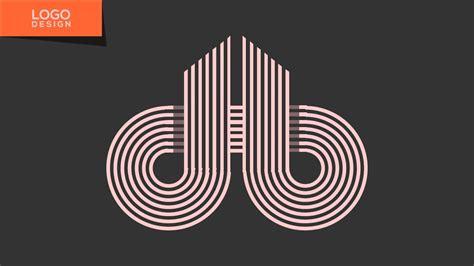 tutorial logo maken logo design tutorial with illustrator cc db monogram
