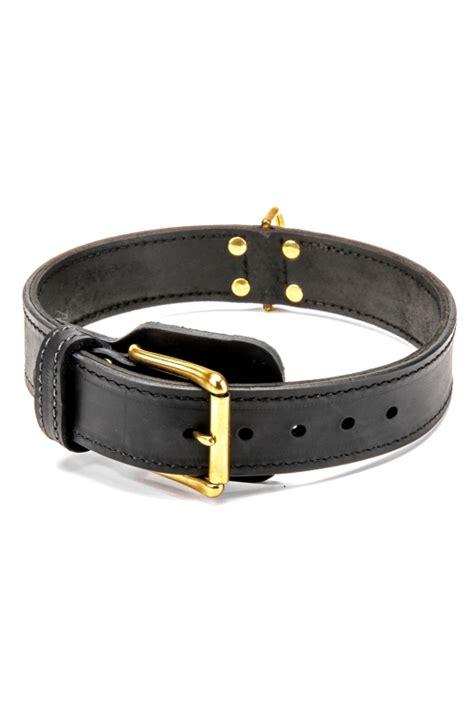 Handcraft Collars - buy handcrafted 2 ply leather agitation doberman collar