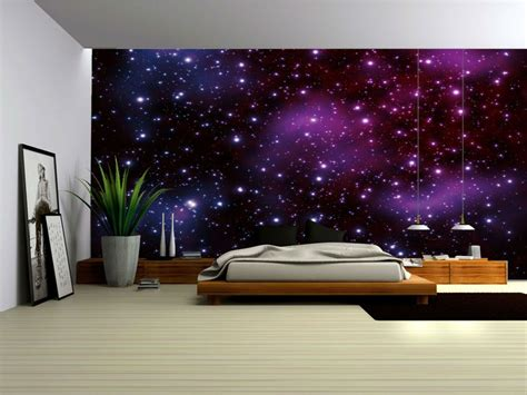 Galaxy Bedroom Wallpaper galaxy fleece photo wallpaper wall mural 177ve ebay