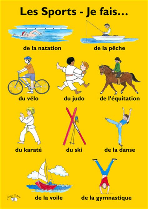 poster les sports je fais little linguist