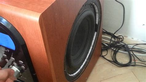 genius home theater sw hf   subwoofer test youtube