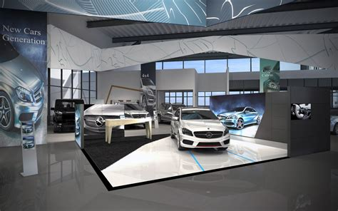 mercedes showroom interior 3d lab visualisaties interieur showroom interior