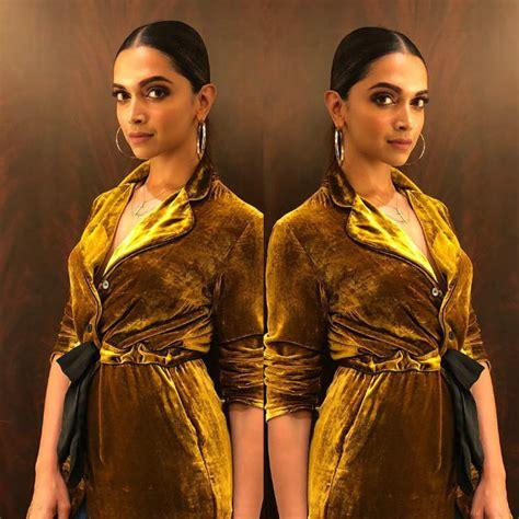 deepika padukone gold saree deepika padukone s gold blazer and sheer black saree is