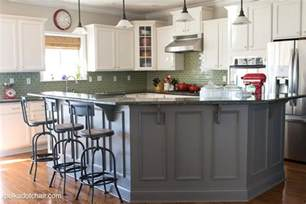 Painted Islands For Kitchens by Painted Kitchen Cabinet Ideas And Kitchen Makeover Reveal