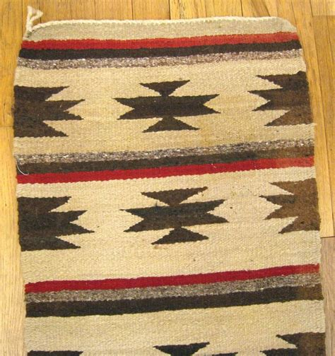 mexican rugs vintage mexican zapotec rug in small size with stylized and stripes design for sale at