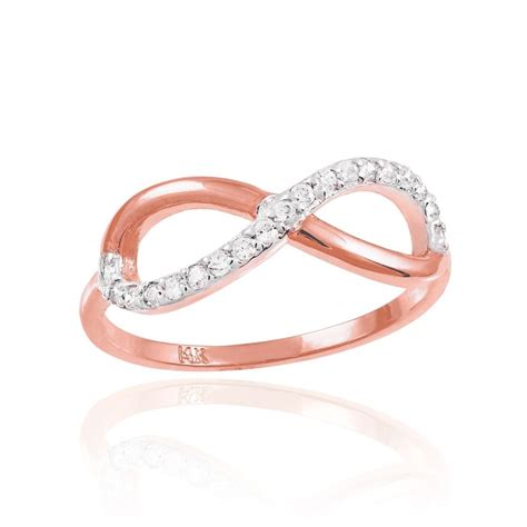 ebay infinity ring s 10k gold half stud infinity ring with
