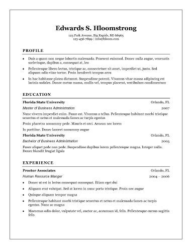 template resume word free free resumes templates for microsoft word microsoft word