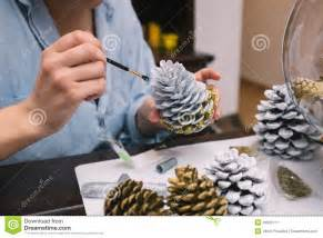 Making decorations for christmas stock image image 36001311