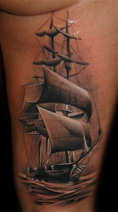 Black Galleon Tattoo Studio In King S Lynn The Tattoo | realistic side galleon tattoo by black rose tattoo