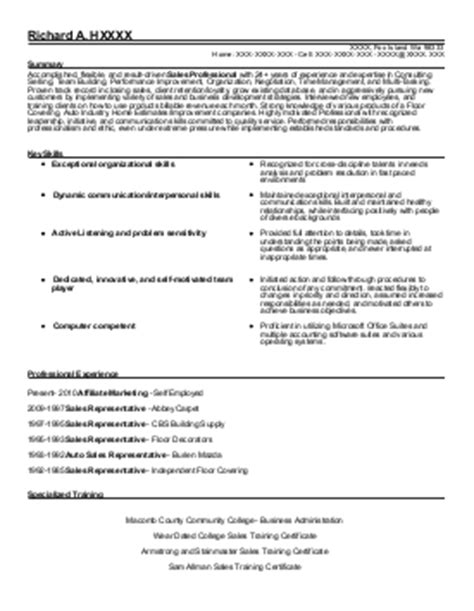 Food Broker Sle Resume by Food Broker Resume Exle Master Sales Menomonee Falls Wisconsin
