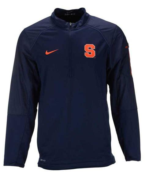 Sweater Hoodie Nike Navy 2 nike s syracuse orange hybrid jacket in blue for lyst