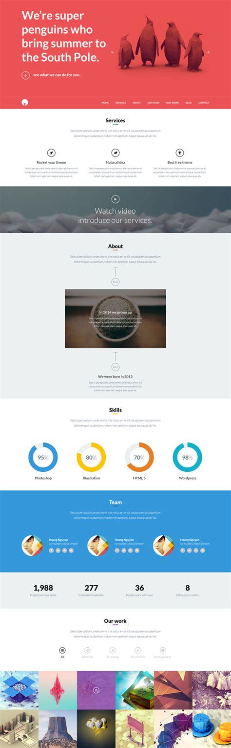 wordpress theme one page layout oneengine multi purpose one page wordpress theme psd